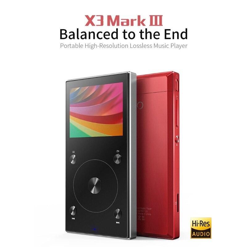 FIIO X3 Mark III Hi-Res Audio Balanced Bluetooth 4.1 DSD DAC Portable High Resolution lossless MP3 Music Player X3III X3 III
